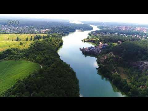 Житомир с высоты - Лето-3. Тетерев, мост, плотина,(Zhytomyr - Summer Teterev-3) 4К Ultra HD - Видео
