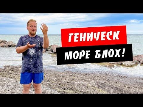 Геническ 2021. Море блох! Мало туристов. Море, пляж. Обзор курорта Геническ