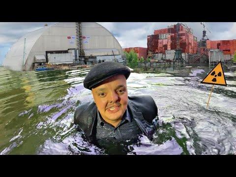 Что будет если ИСКУПАТЬСЯ под Чернобыльским Реактором Ищем ГОРЯЧИЕ ЧАСТИЧКИ в Припяти