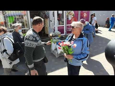 Флешмоб ко Дню Победы в Константиновке. Смуглянка.