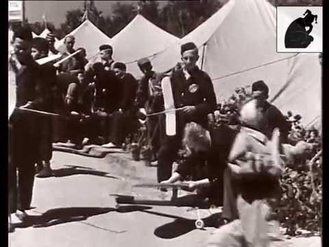 Видеоролик 1939 года: Всесоюзные соревнования по авиамоделизму