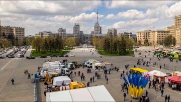 С праздником 1 мая! Ярмарка, Площадь Свободы в Харькове