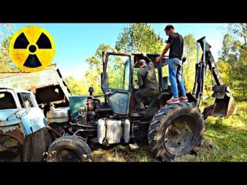 Как мы укатили трактор в Чернобыльском лесу у марадёров
