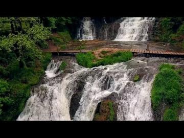 Украина - Червоноградский замок и Джуринский водопад. 4К (Castles of Ukraine-Djurinsky Falls)