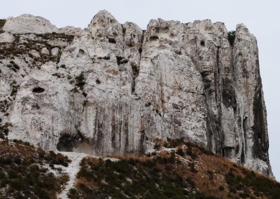 Скалообразное обнажение верхнего мела