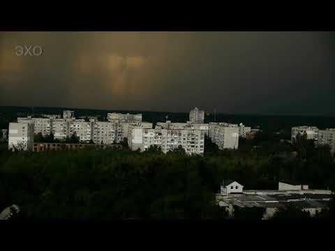 Житомир. Ночь. Гроза (4К Ultra HD - Видео)